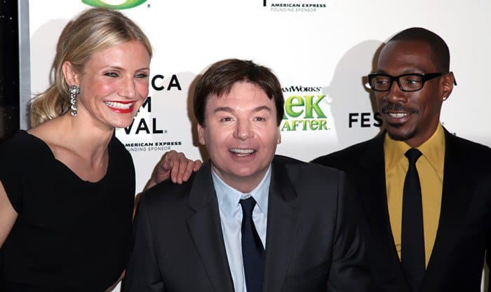 Mike Myers, Eddie Murphy, and Cameron Diaz reprise their previous roles in Shrek Forever After