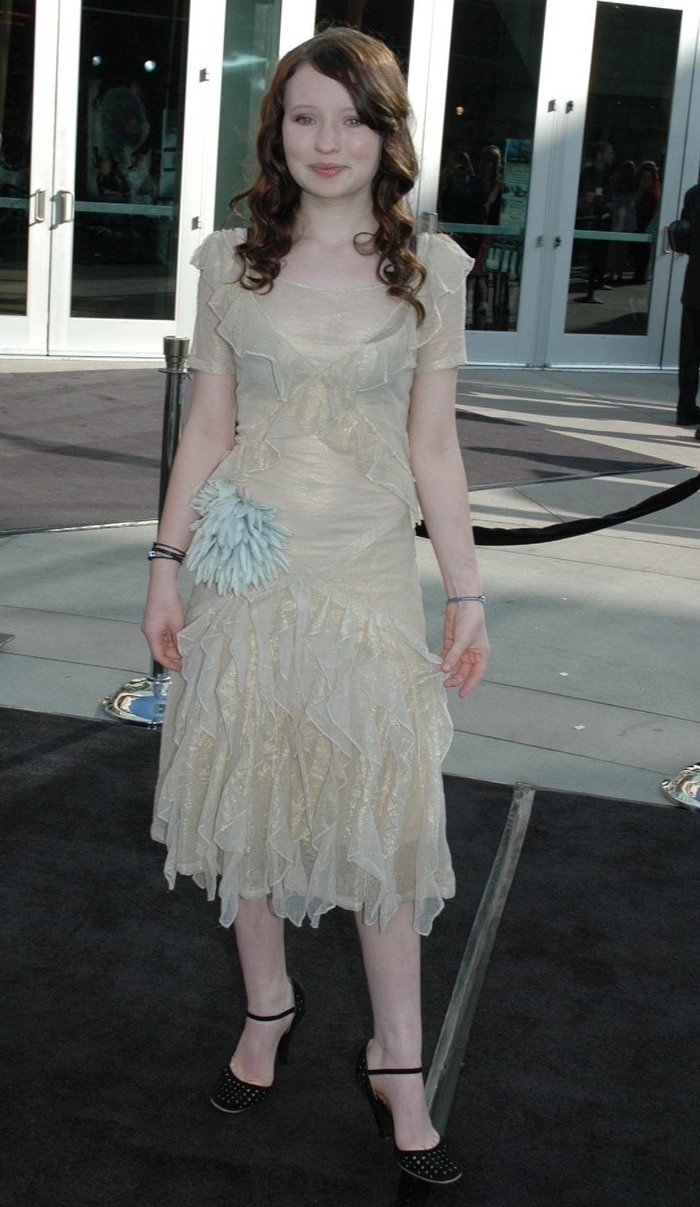 Emily Browning was 14 years old when attending the premiere of Lemony Snicket's A Series of Unfortunate Events