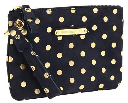 Juicy Couture Polka Dotted Suede Wristlet