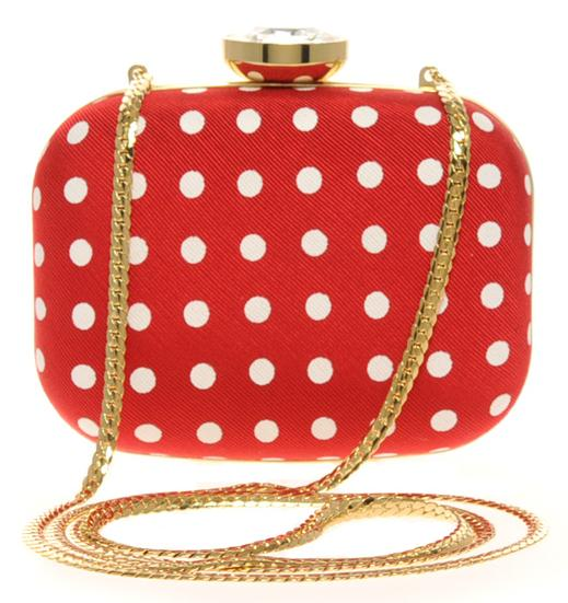 LOVE Moschino Red and White Polka Dotted Hardcase