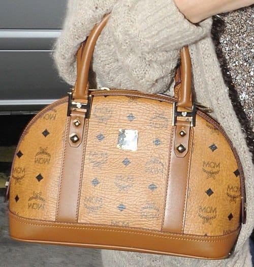 Selena Gomez shows off her favorite MCM bag