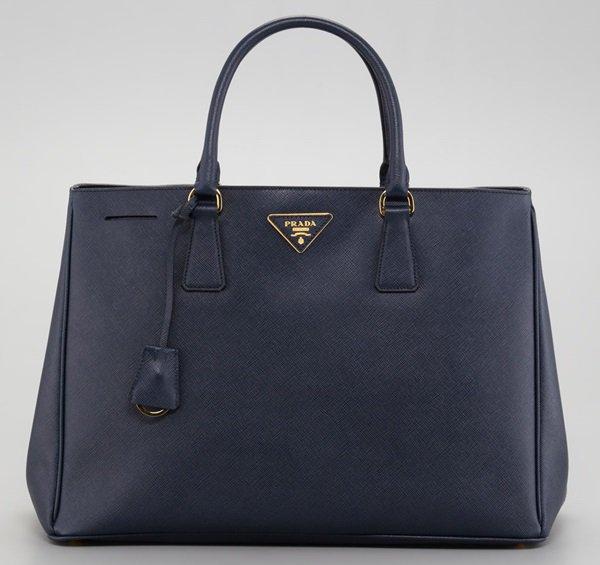 Prada Blue Saffiano Lux Tote