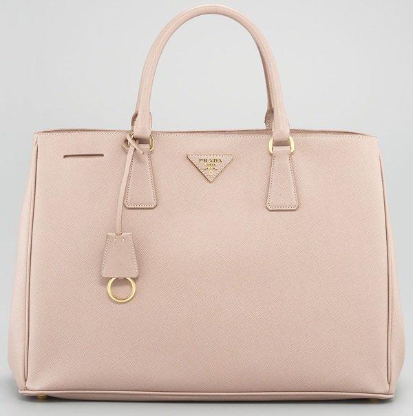 Prada Pink Saffiano Lux Tote