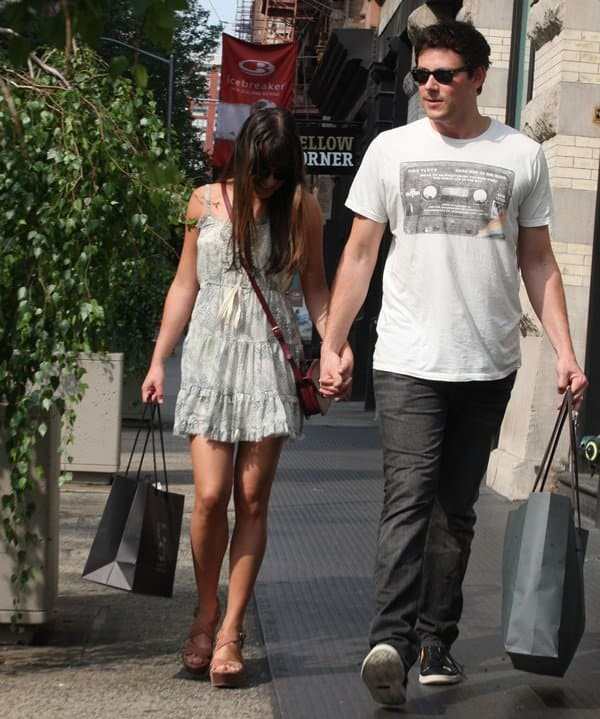 Lea Michele and boyfriend Cory Monteith met on the set of the Fox musical Glee in 2009