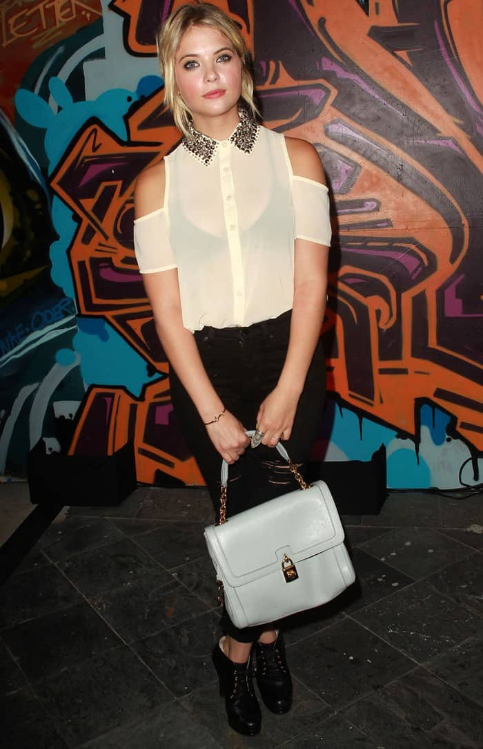 16d38148fc08e0 Ashley Benson attends the launch of 'Just Dance 4' presented by Ubisoft at  Lexington