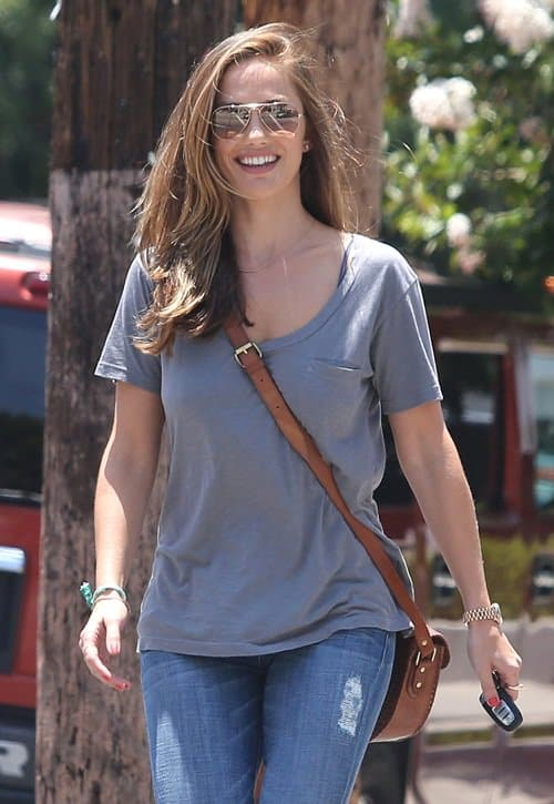 Minka Kelly rocks blue jeans and sunglasses in West Hollywood