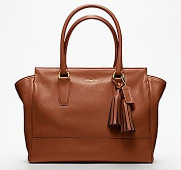 Coach Legacy Leather Medium Candace Carryall in Brass/Cognac