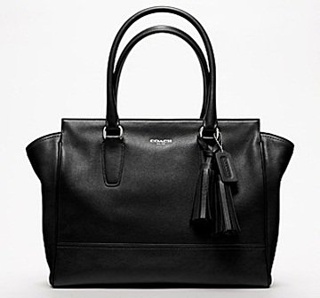 Coach Legacy Leather Medium Candace Carryall in Silver/Black