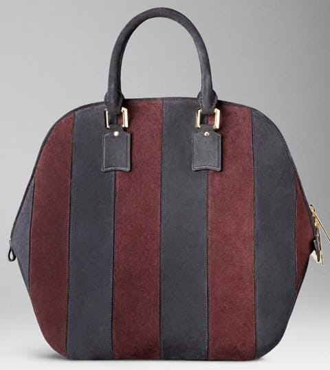 Burberry The Orchard Bag in Suede Stripes