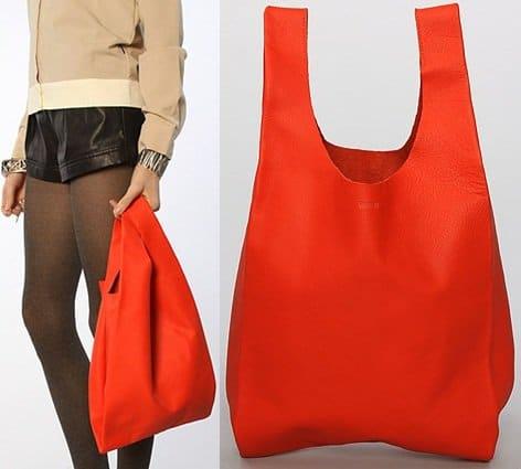 Baggu Small Leather Bag