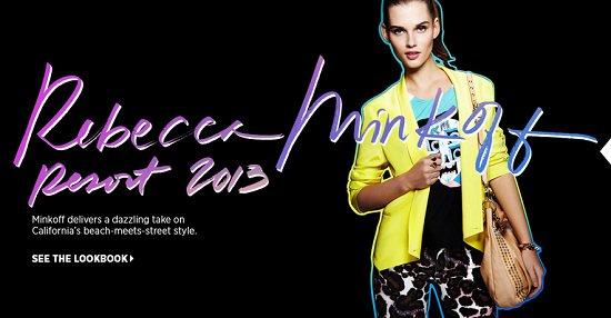 Rebecca Minkoff Resort 2013 Lookbook