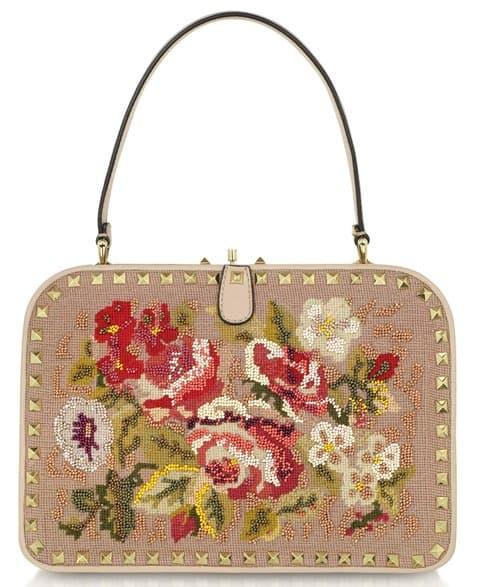 Valentino Garavani Embroidered Frame Handbag
