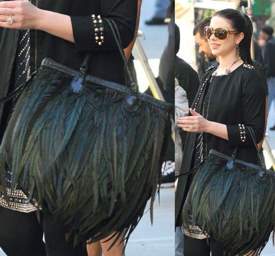 Michelle Trachtenberg filming a scene for Season 6 of Gossip Girl