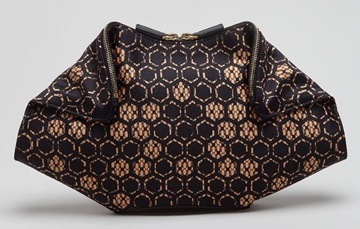 Alexander McQueen De-Manta Honeycomb Clutch Bag