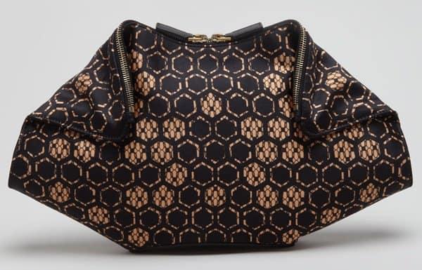 Alexander McQueen De Manta Bag in Honeycomb