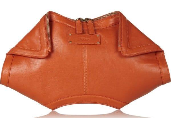 Alexander McQueen De Manta Bag in Orange Leather