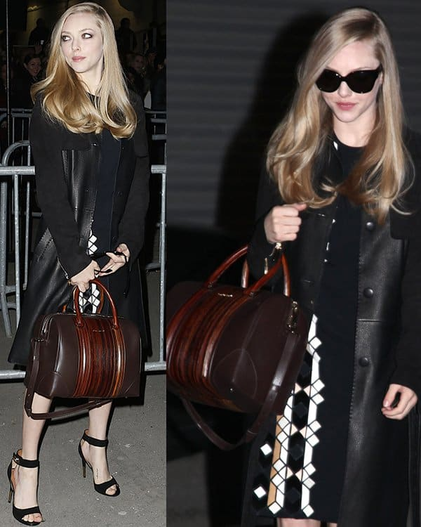 Amanda Seyfried attends the Givenchy Fall/Winter 2013 Ready-to-Wear show as part of Paris Fashion Week