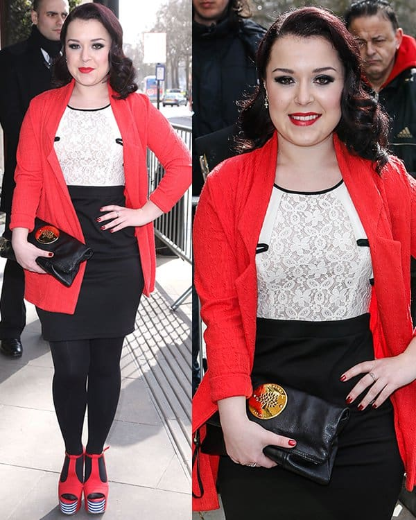 Dani Harmer at the TRIC Awards 2013