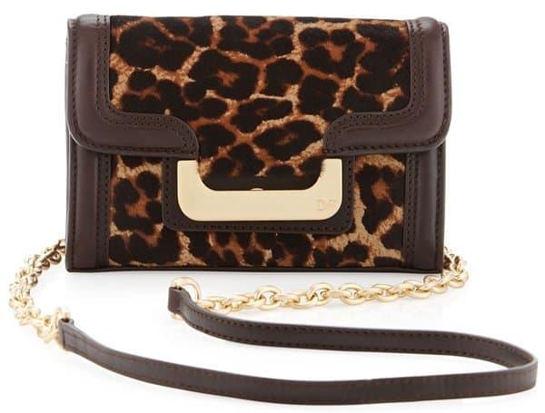 Diane von Furstenberg New Harper Charlie Leopard-Print Crossbody