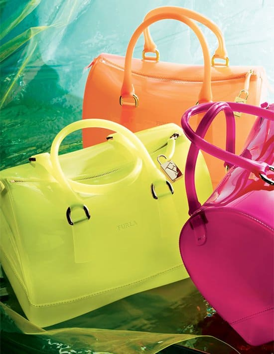 Furla's sweet candy-colored PVC bags