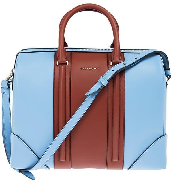 Givenchy Lucrezia Colorblock Blue-Brown Satchel Bag