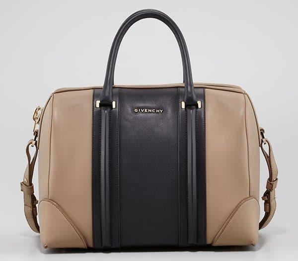 Givenchy Lucrezia Colorblock Bronze-Black Satchel Bag