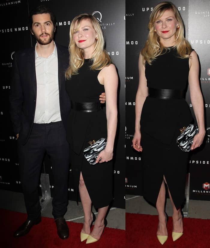 Jim Sturgess and Kirsten Dunst at the Los Angeles premiere of 'Upside Down' held at ArcLight Hollywood
