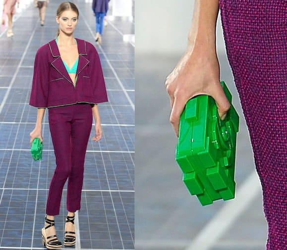 Chanel Lego clutch as seen at the Chanel Spring/Summer 2013 show at Paris Fashion Weekin Paris, France, on October 2, 2012