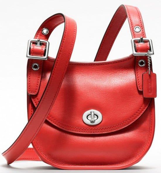 How To Wear Coach S Mini Saddle Bag Like Katharine Mcphee