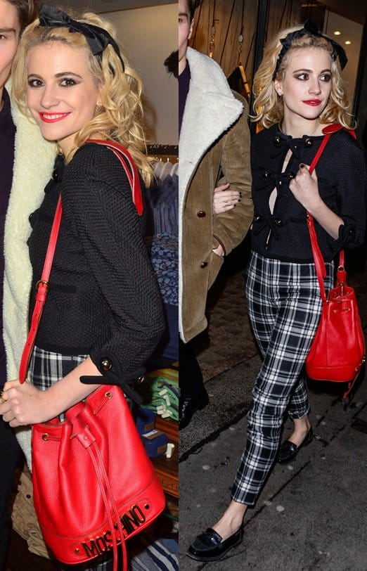 Pixie Lott attends the Panasonic Technics Shop to the Beat party at French Connection