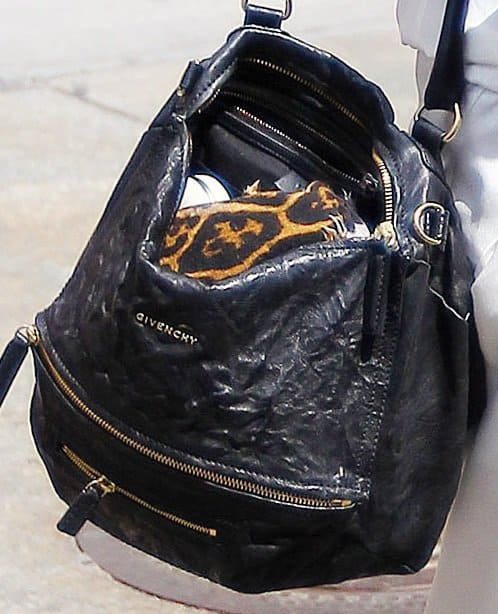 Lily Aldridge's black Givenchy Pandora handbag