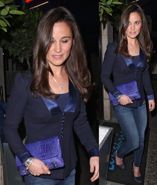 Pippa Middleton Blue Bag