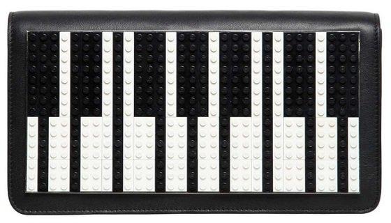 Les Petits Joueurs Piano Leather Clutch