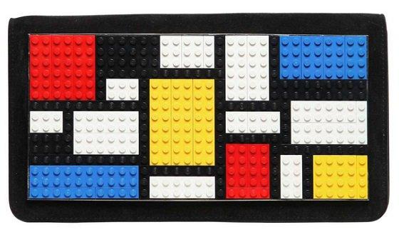 Les Petits Joueurs Lego Mondrian Suede Clutch