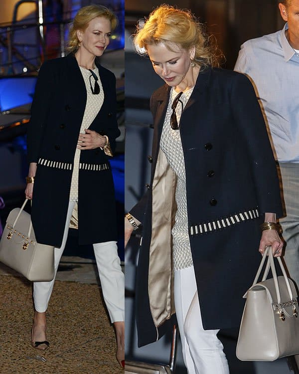 Nicole Kidman departing the Johnnie Walker yacht party during 66th Cannes Film Festival in Cannes, France on May 17, 2013