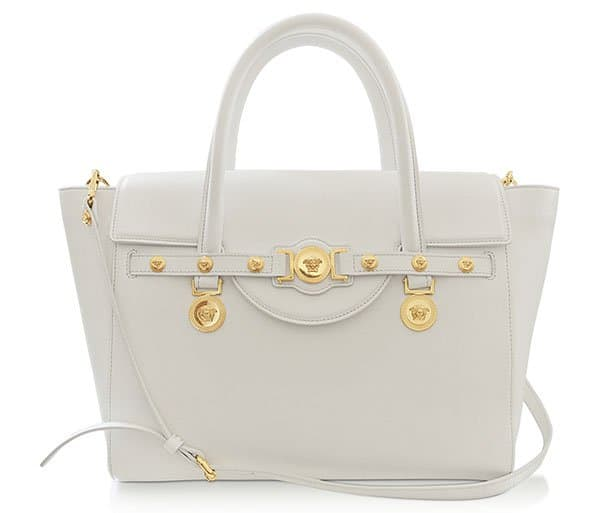 Versace Large Signature Leather Tote