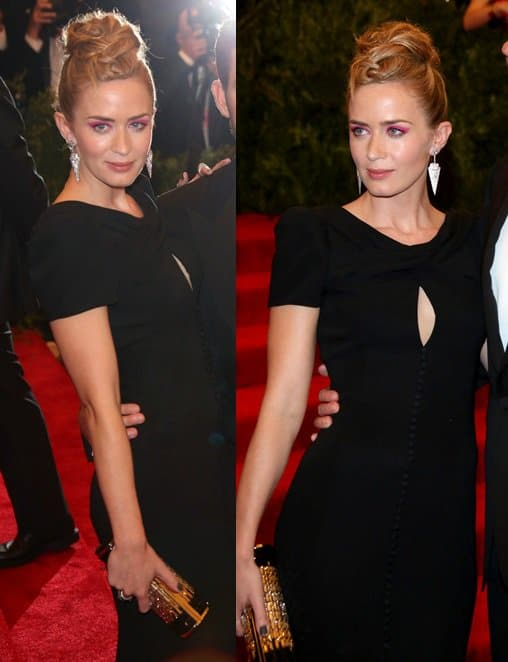 Emily Blunt was all simple and classy in her tight keyhole-detailed LBD