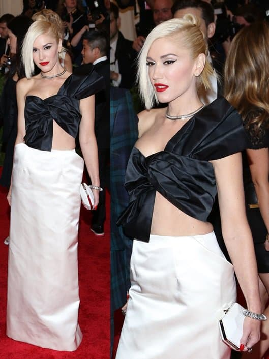 Gwen Stefani, rocker mom and fashion entrepreneur, kept it classic in black and white at the event