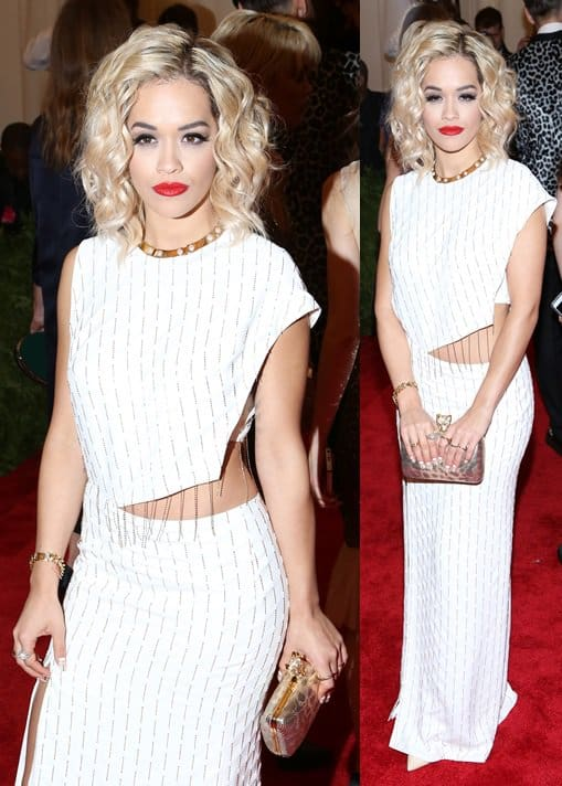 Rita Ora opted to dress down at the Met Gala