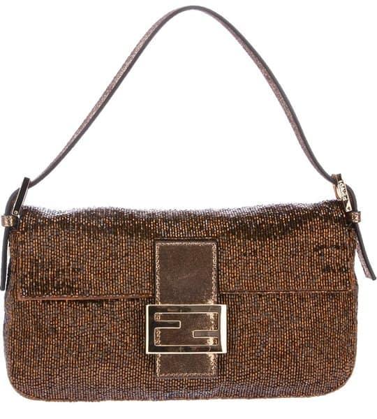 Fendi Baguette Shoulder Bag in Gold