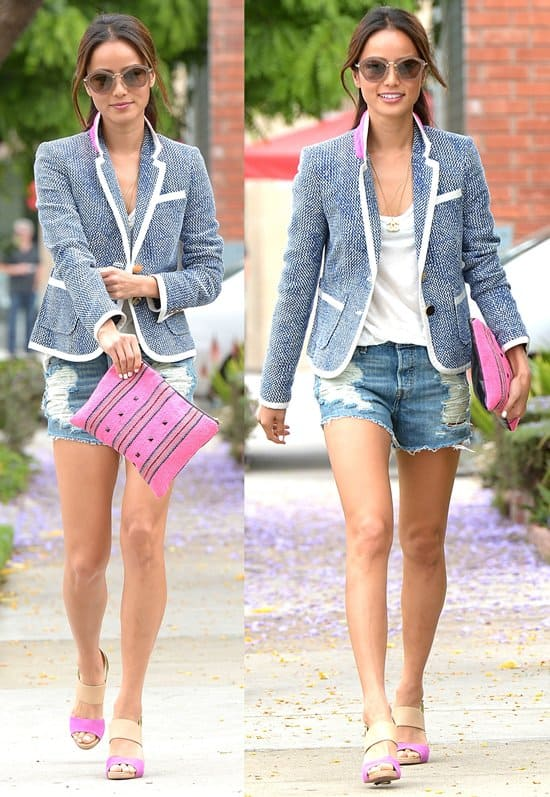 Jamie Chung spotted doing some shopping on Melrose Avenue in Los Angeles on June 7, 2013