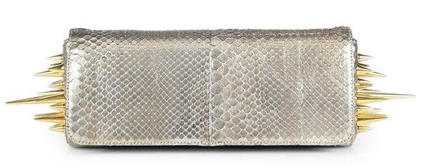 Christian Louboutin Marquise Metallic Python Clutch