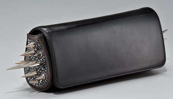 Christian Louboutin Spiked Marquise Clutch