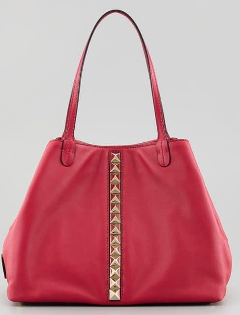 Valentino Rockstud Lock Vitello Tote Bag