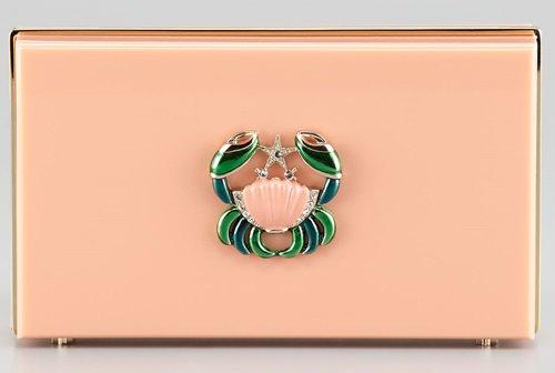 charlotte olympia pandora cancer zodiac clutch in blush