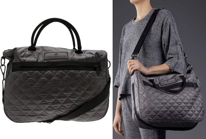 Adidas by Stella McCartney Quilted Bag in Sharp Gray
