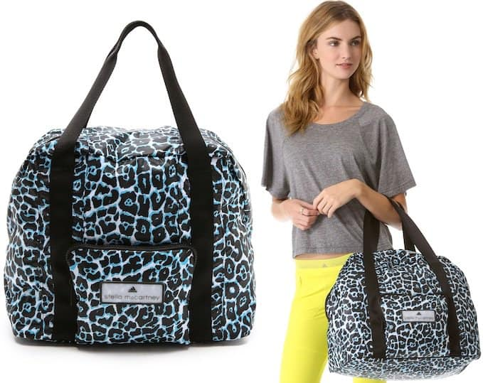"""Adidas by Stella McCartney """"PR Carry On"""" Bag in Black/White/Water Blue"""