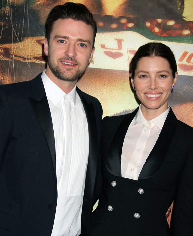 Jessica Biel and Justin Timberlake at the movie premiere of 'Runner Runner' at Planet Hollywood in Las Vegas, Nevada, on September 19, 2013