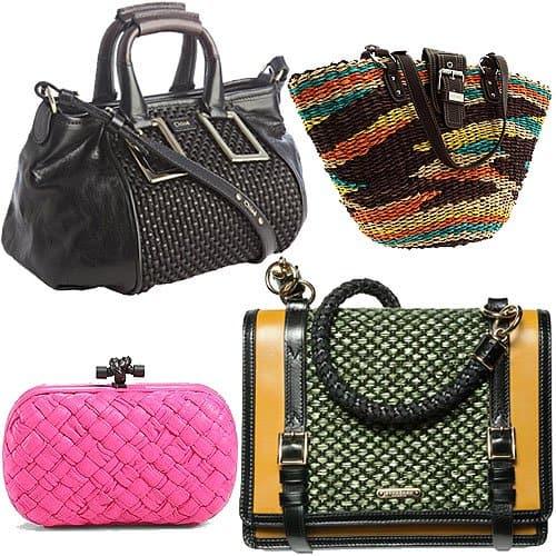Woven handbags and purses