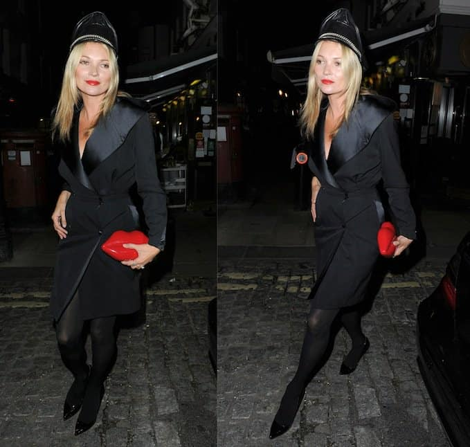 Kate Moss at the AnOther Magazine party during London Fashion Week Spring/Summer 2014